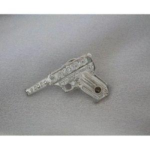 Authentic Vintage Yves Saint Laurent Gun Brooch